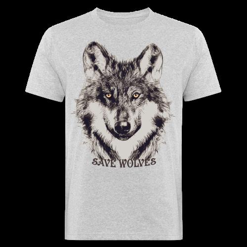 SAVE WOLVES - Männer Bio-T-Shirt