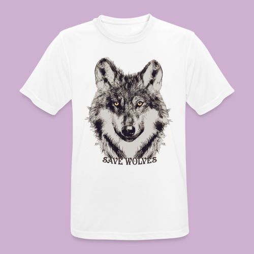 SAVE WOLVES - Männer T-Shirt atmungsaktiv