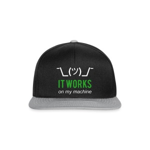 It works on my machine Programmierer T-Shirt - Snapback Cap
