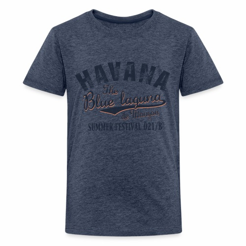 Havana_Blue Laguna summer - Teenager Premium T-Shirt