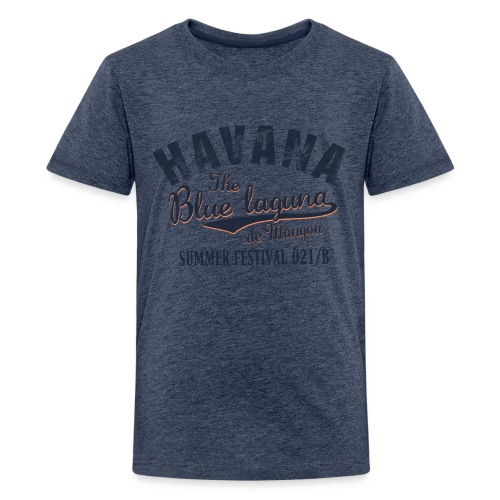 Havana_Blue Laguna summer - Teenager Premium T-Shirt