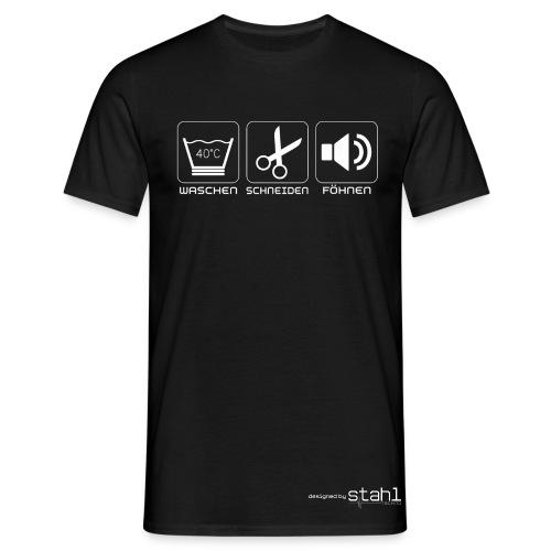 Waschen-Schneiden-Föhnen Schwarz - Männer T-Shirt