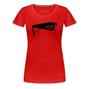 Marimba Music 2 Kontur Shirt (Damen) - Frauen Premium T-Shirt