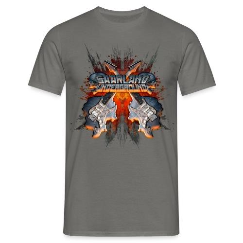 Saarland Underground T-Shirt (Gitarren Logo) - Männer T-Shirt