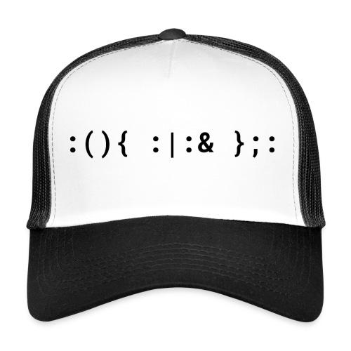 Bash Fork Bomb Schwarz - Unix/Linux Hacker Mütze - Trucker Cap