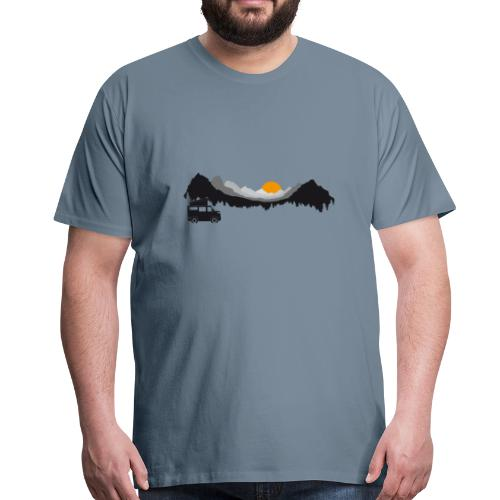 Camping in den Bergen - Männer Premium T-Shirt
