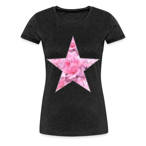 Stern und Rosen - Frauen Premium T-Shirt