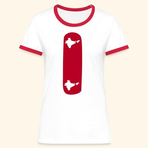 India t-shirt - T-shirt contrasté Femme