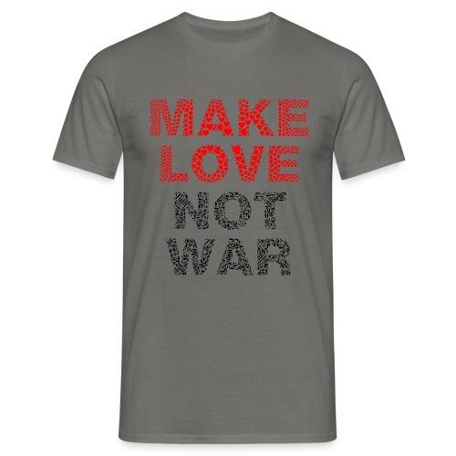 Liebe-Krieg - Männer T-Shirt