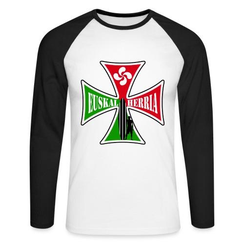 Euskal Herria surfing - Men's Long Sleeve Baseball T-Shirt