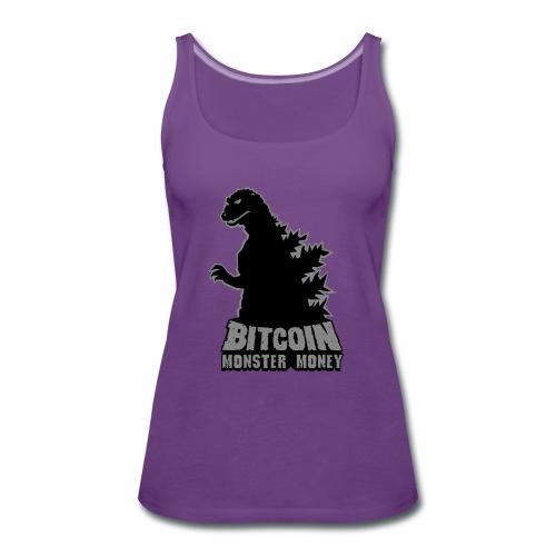 Bitcoin Monster Money. - Women's Premium Tank Top