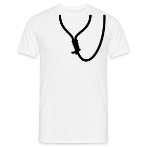 Strop: touw op rug - Mannen T-shirt
