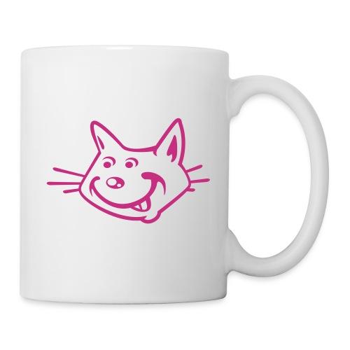 tasse chat rose - Mug blanc