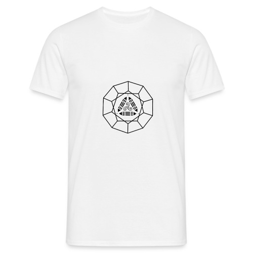 Tshirt B&C blanc ScapJM1noir poitrine - T-shirt Homme