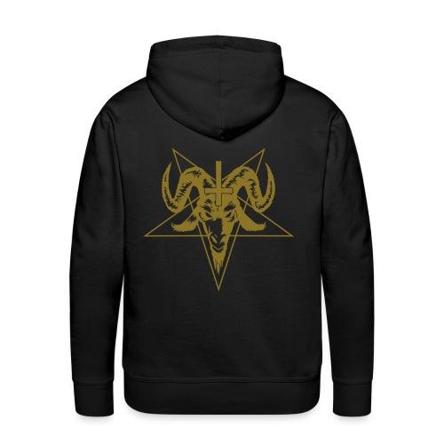 Goathead with pentagram - Premium hettegenser for menn