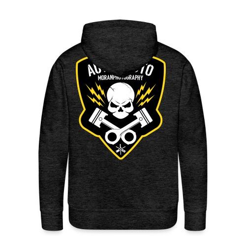 Skull & Piston (Yellow) - Men's Premium Hoodie