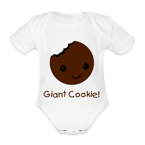Giant Cookie kids hoodie - Organic Short-sleeved Baby Bodysuit