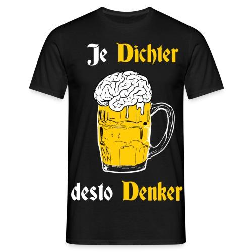 Dichter & Denker Bierkrug - Bierphilosoph T-Shirts - Männer T-Shirt