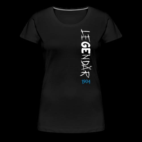 Frauen T-Shirt LeGEndär 1904 - schwarz - Frauen Premium T-Shirt