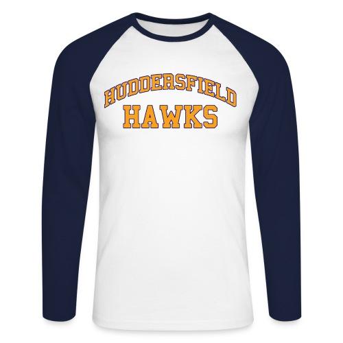 Mens Varsity Raglan - Men's Long Sleeve Baseball T-Shirt