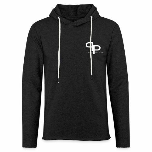 Workout hoodie white logo (unisex) - Lichte hoodie unisex