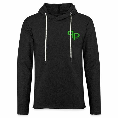 Workout hoodie green logo (unisex) - Lichte hoodie unisex
