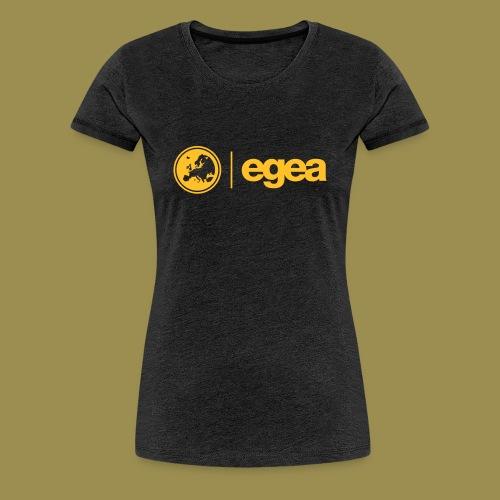 T-Shirt EGEA Logo - WOMEN charcoal - Women's Premium T-Shirt