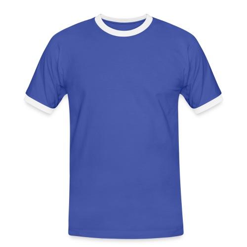 Tee shirt unie Bleu contraste blanc homme - T-shirt contrasté Homme