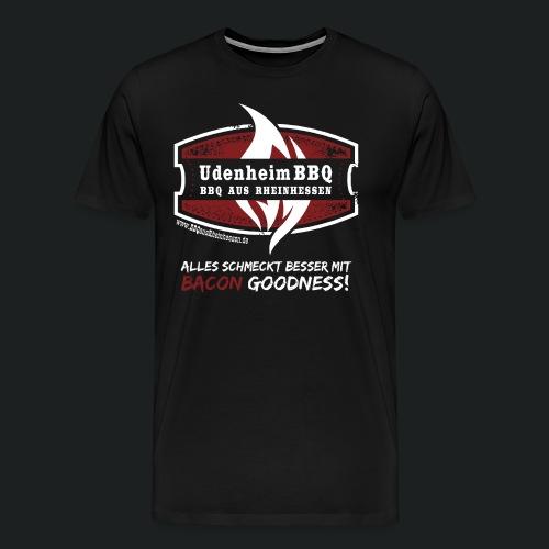 Alles schmeckt besser mit Bacon Goodness Shirt - Männer Premium T-Shirt