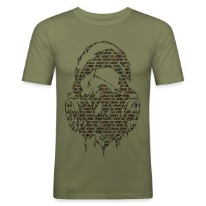 Survivethis Textmask - Männer Slim Fit T-Shirt