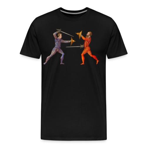 Svärd och bucklare Mair - Premium-T-shirt herr