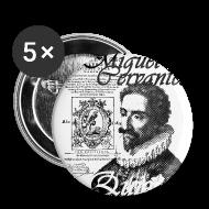 Botones y prendedores ~ Chapa pequeña 25 mm ~ Chapa Miguel de Cervantes