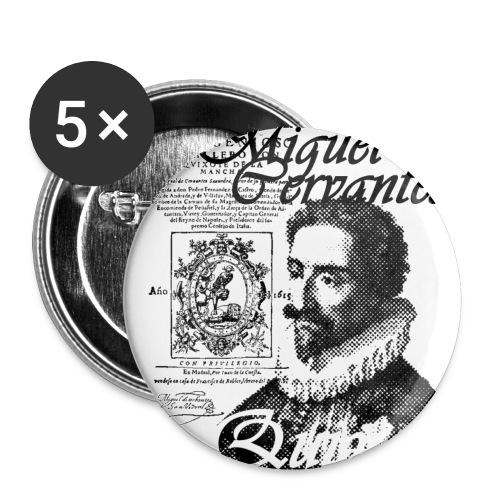 Chapa Miguel de Cervantes - Chapa pequeña 25 mm