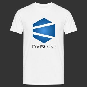 T-Shirt PodShows Homme blanc - T-shirt Homme