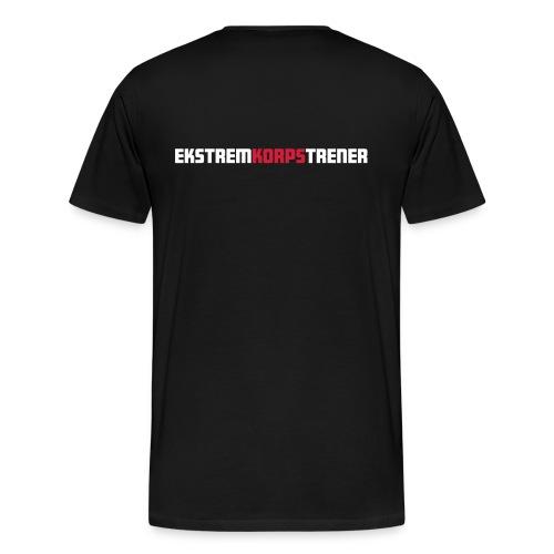 Ekstremkorpsveko på Voss 2017 Trener Herre - Premium T-skjorte for menn