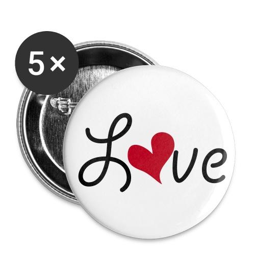 Love button. - Middels pin 32 mm (5-er pakke)