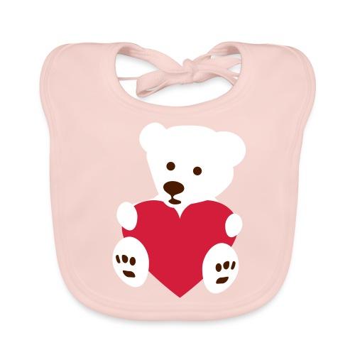 Organic baby bib bear - Baby biosmekke