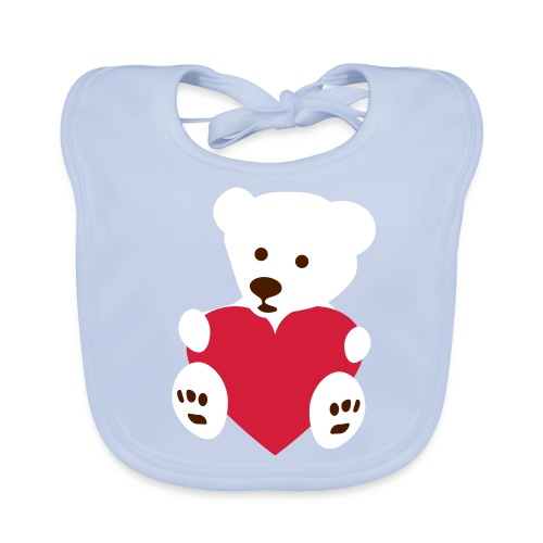 Organic baby bib bear2 - Baby biosmekke