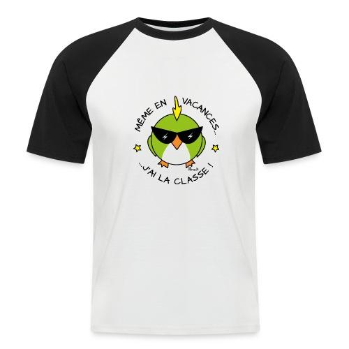T-shirt Baseball Homme, Cadeau Instit, Maître d'école - T-shirt baseball manches courtes Homme