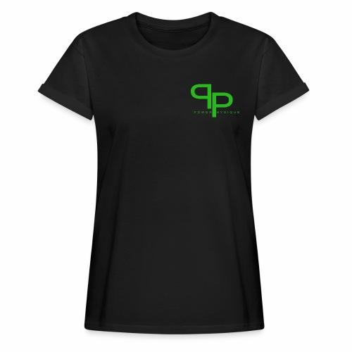 T-shirt green logo (vrouwen) - Vrouwen oversize T-shirt
