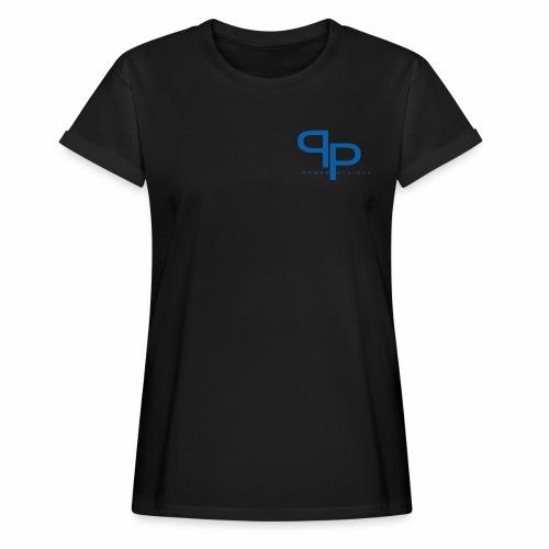 T-shirt blue logo (vrouwen) - Vrouwen oversize T-shirt