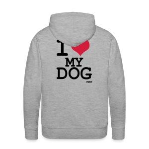 Sweat J'aime mon chien ! - Sweat-shirt à capuche Premium pour hommes