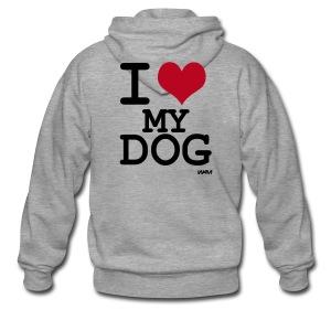 Veste J'aime mon chien ! - Veste à capuche Premium Homme
