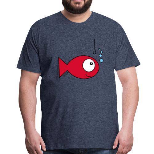 T-shirt P Homme, Poisson rouge - T-shirt Premium Homme