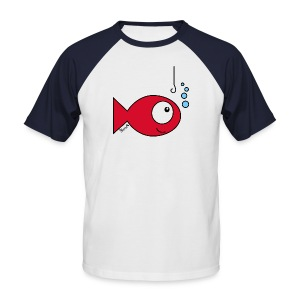 T-shirt Baseball Homme, Poisson rouge - T-shirt baseball manches courtes Homme