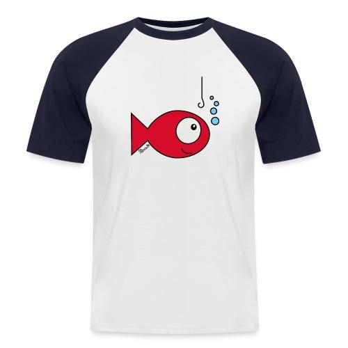 T-shirt Baseball Homme, Poisson rouge - T-shirt baseball manches courtes Homme