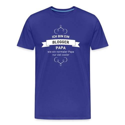 Blogger-Papa - Männer Premium T-Shirt