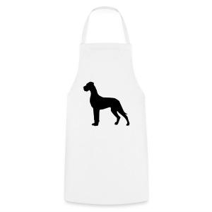 Dogge schwarz - Kochschürze