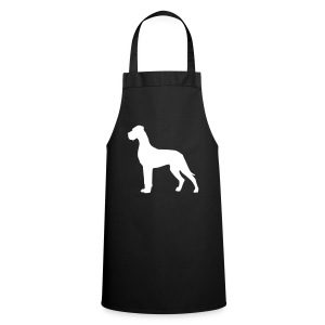 Dogge weiss - Kochschürze