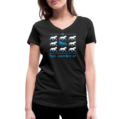 Sei anders - Shirt V - Frauen Bio-T-Shirt mit V-Ausschnitt von Stanley & Stella